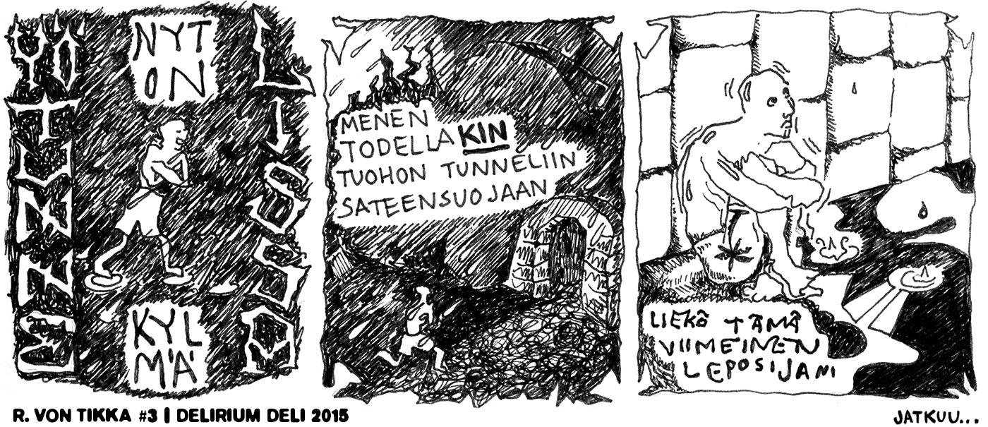Sarjakuva R. von Tikka #3 - Yö tunnelissa 1
